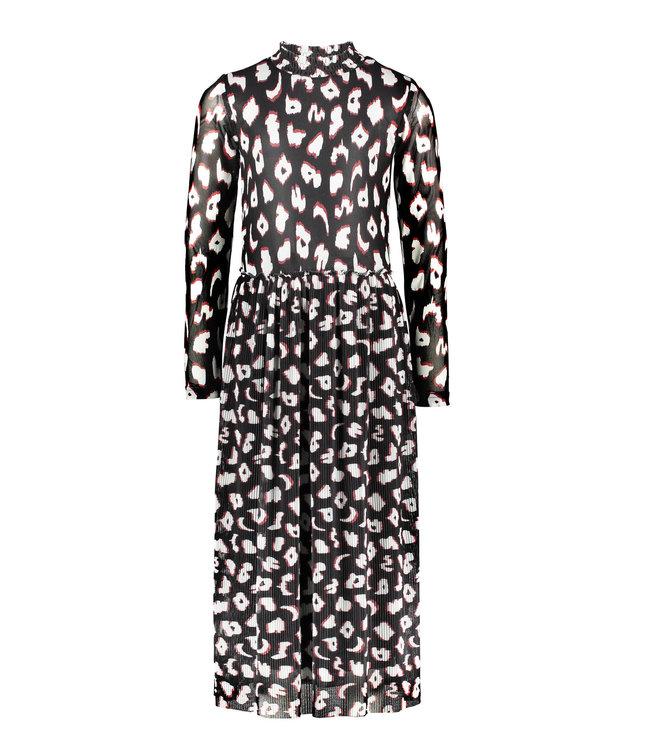 B.Nosy B-nosy Girls ikat mesh midi dress you leopard Y108-5824 047