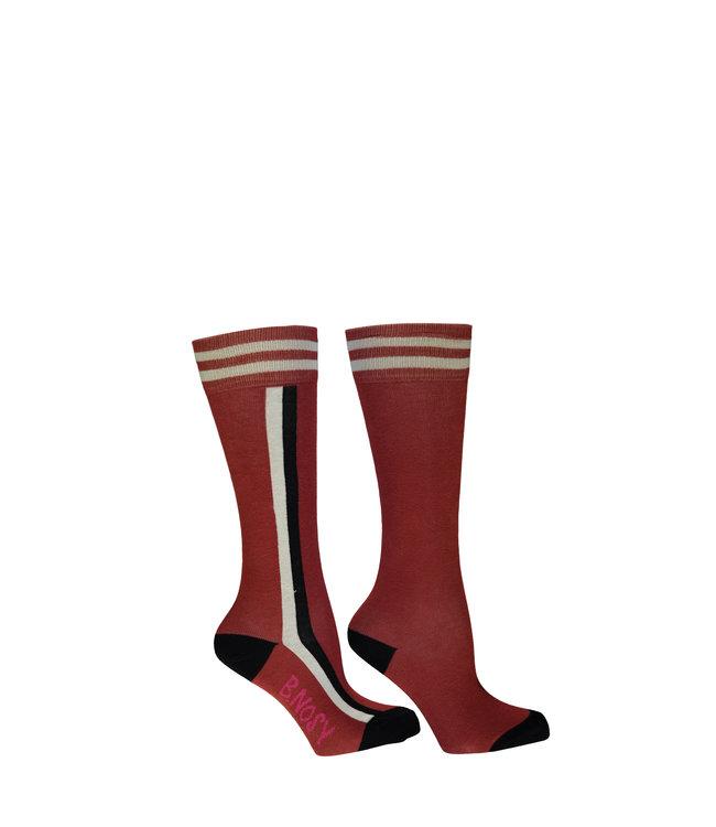 B.Nosy B-nosy Girls B.You socks with vertical stripe brique Y108-5920 223