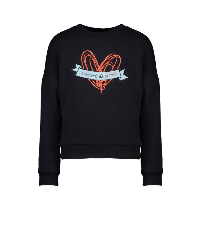 NoNo Nono Kessa sweater artwork on chest Navy