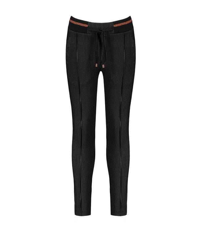 NoNo Nono Secler pinstriped pants black