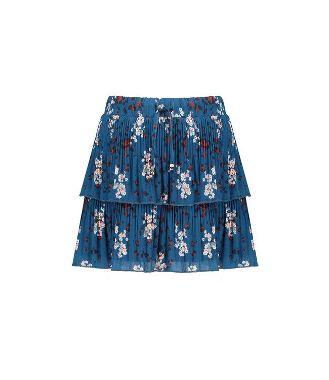 NoNo Nono NikkiB 2 layered recycled PL plissee short skirt Swedish Blue