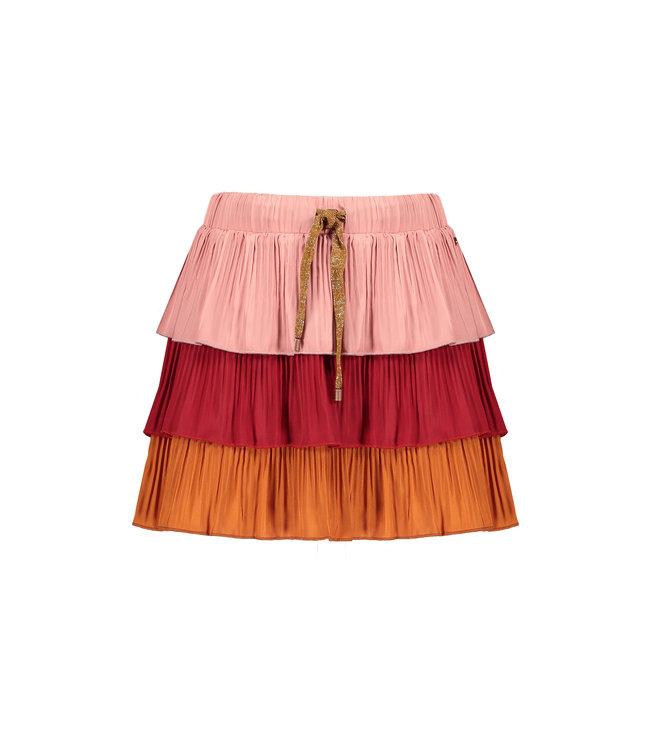 NoNo Nono Nik 3 layered skirt with plissee Ruby
