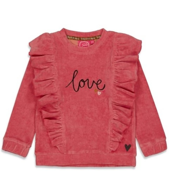 Jubel Jubel Sweater ruches - Forever Wild Roze 91600300