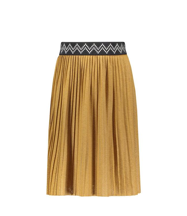 Like Flo Flo girls jersey coated plisse skirt maxi camel