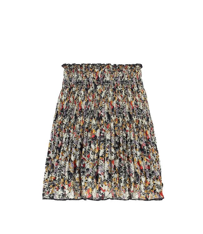 Like Flo Flo girls woven crepe plisse skirt flower