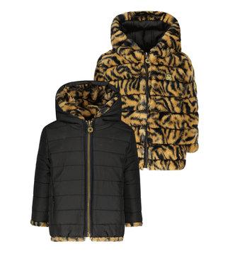 Like Flo Flo baby girls hooded reversible jacket zebra F107-7250 916