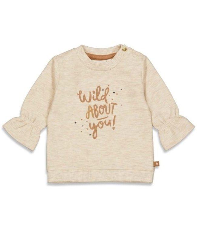 Feetje Feetje Sweater - Wild At Heart Offwhite melange 51601792