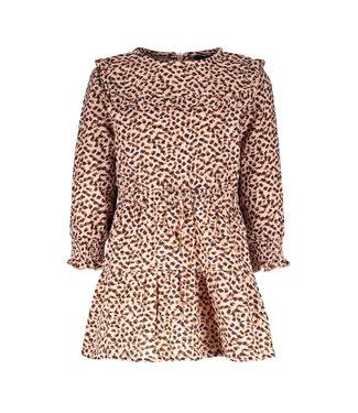 Like Flo Flo baby girls fancy double fabric dress old pink