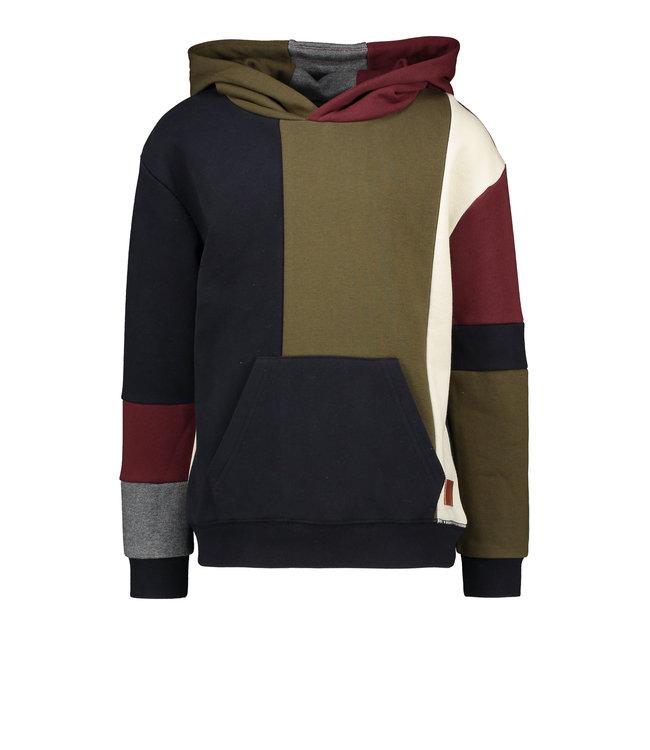 Like Flo Flo boys hooded colourblock sweater F108-6314 999