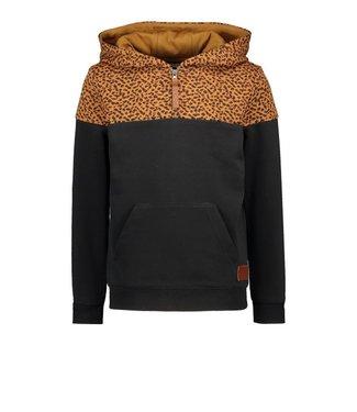 Like Flo Flo boys hooded colourblock sweater black