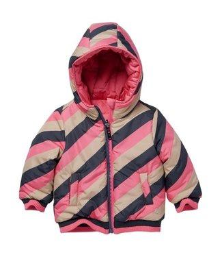 Quapi QUAPI LAURE W210 Jas AOP Sand Stripe Pink Candy