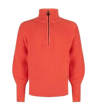 Indian bluejeans IBJ SHIRT knitwear zipper warm coral IBGW21-8015 290