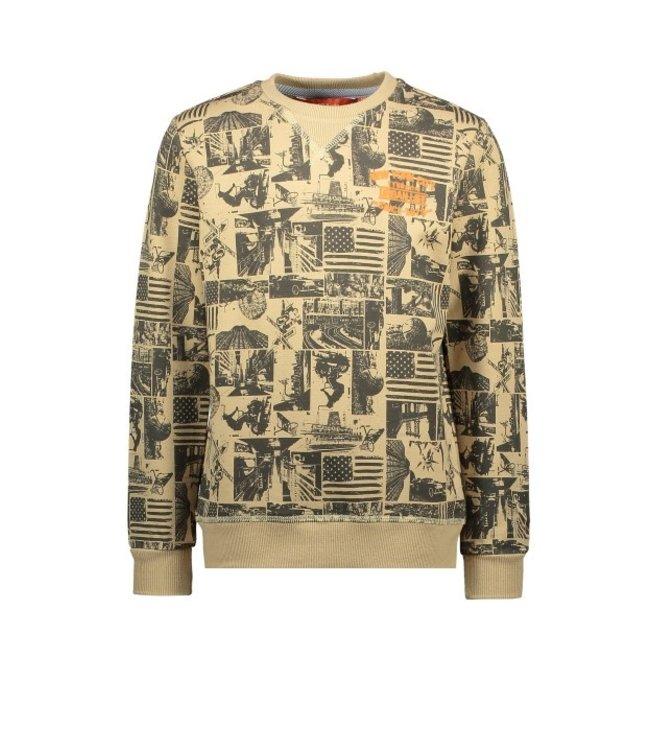 Tygo & Vito T&v sweater AOP Dark Sand X108-6322 410