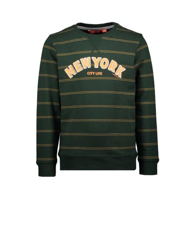 Tygo & Vito T&v sweater yd stripe NY Green X108-6323 360