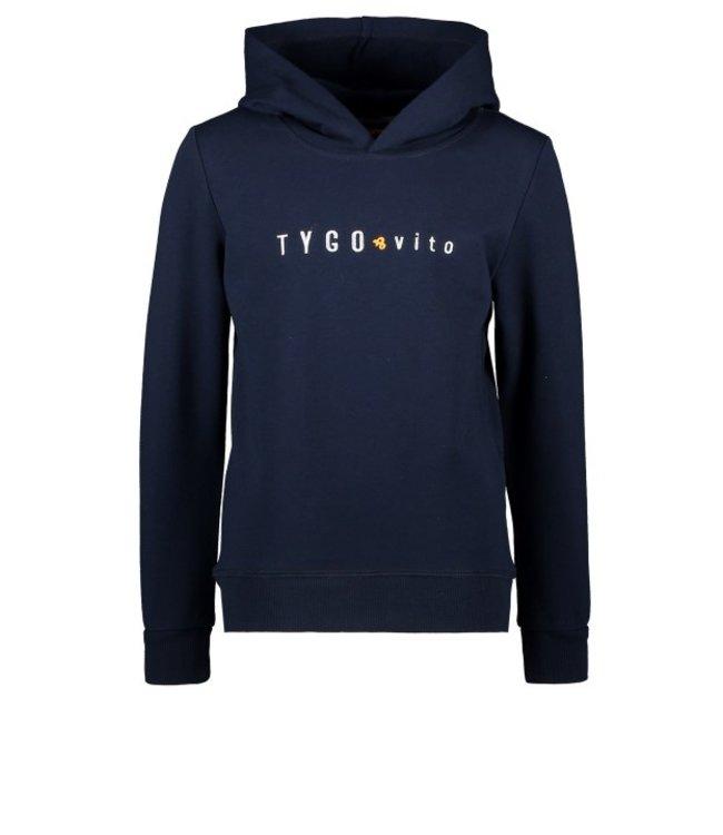 Tygo & Vito T&v hoody TYGO & vito embro Navy X108-6327 190