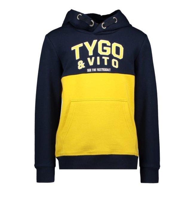 Tygo & Vito T&v hoody cut&sewn Navy X108-6329 190