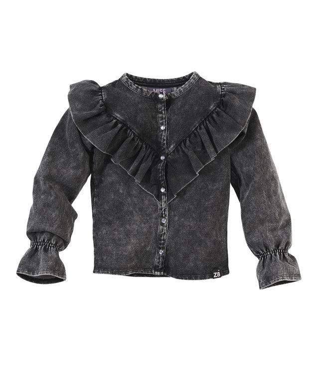 Z8 Z8 Kids Girls Aniek Long sleeves Stonewash black