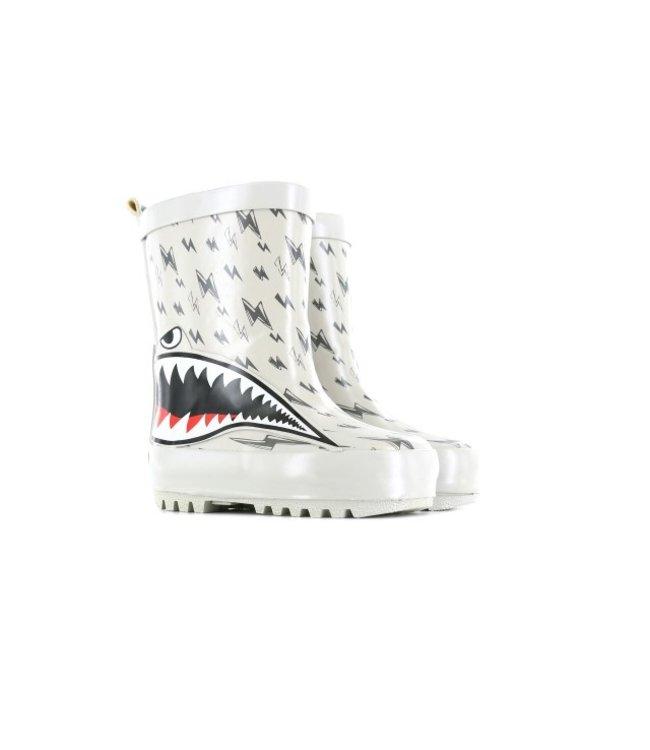Shoesme Go Banana regenlaars Grey GB-SHARK-RB