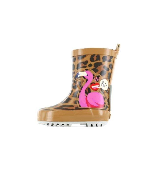 Shoesme Go Banana regenlaars Leopard  GB-FLAMINGO-RB