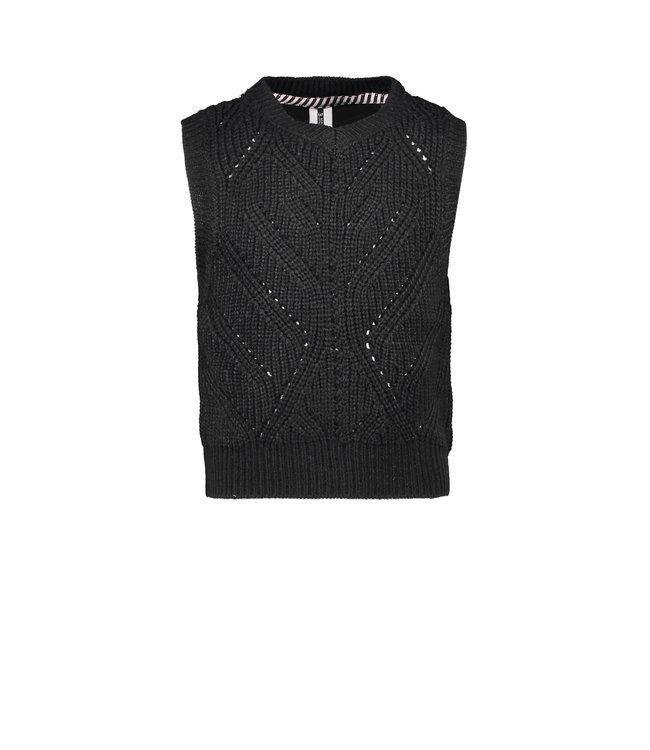 B.Nosy B-nosy Girls heavy knitted spencer Black Y108-5424 099