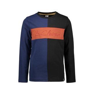 B.Nosy B-nosy Boys colorblock t-shirt with embro on chest Black Y108-6425 099