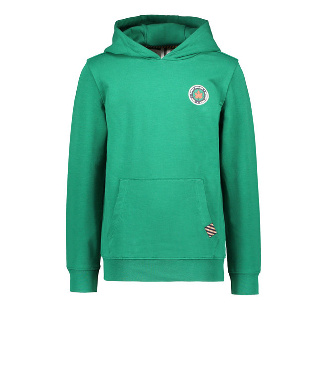 B.Nosy B-nosy Boys hoodie with pouch pocket and patch on chest ever green Y108-6320 373