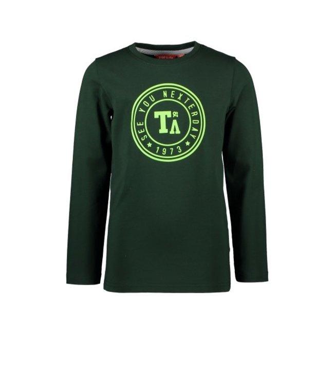 Tygo & Vito T&v Longsleeve round logo print Green X108-6420 360