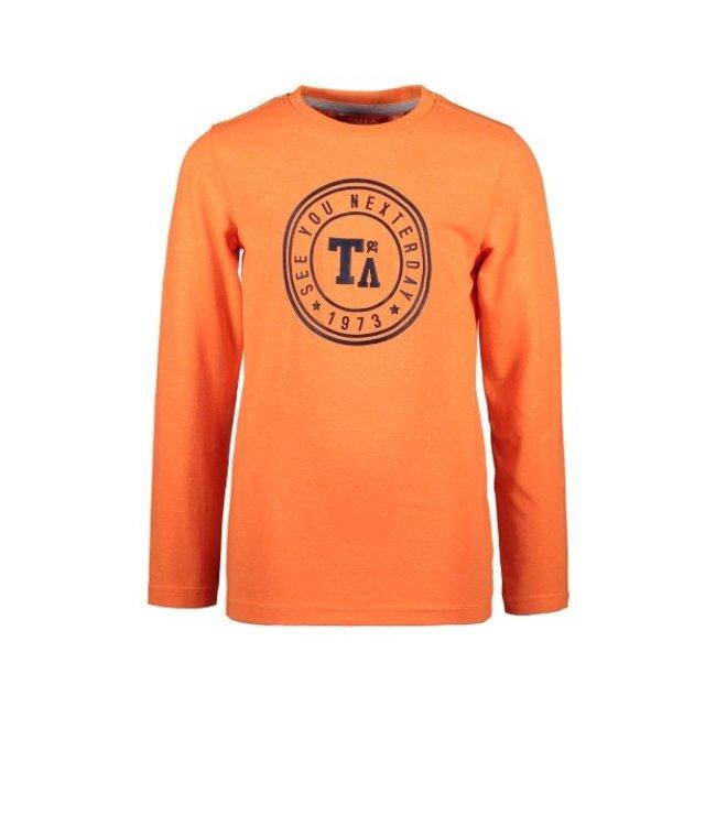 Tygo & Vito T&v Longsleeve round logo print, NEON Shocking Orange X108-6422 565
