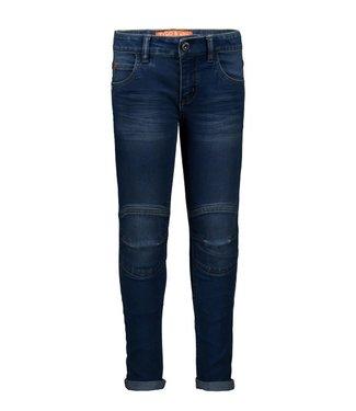 Tygo & Vito T&v fancy jeans double kneepatches skinny Dark Used X108-6624 803