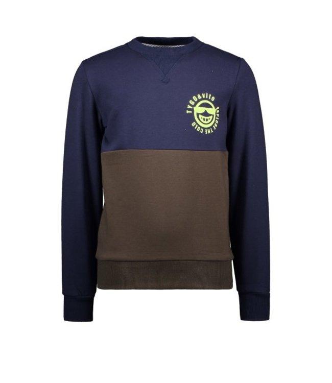 Tygo & Vito T&v sweater cut&sewn Navy X109-6342 190
