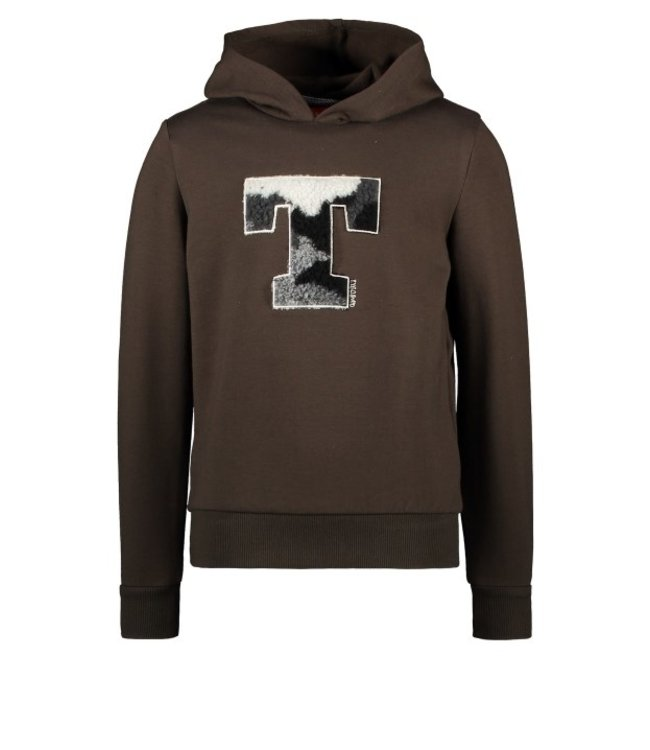 Tygo & Vito T&v sweater EXTREMEwith yd striped ribs Dark Army X109-6348 365