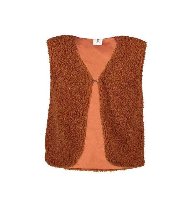 B.Nosy B-nosy Girls teddy gilet Camel Y108-5040 575