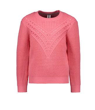 B.Nosy B-nosy Girls heavy knit ajour sweater confetti Y108-5330 230