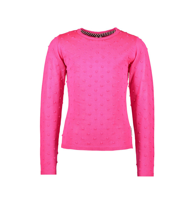 B.Nosy B-nosy Girls fine knitted jaquard dot top Pink glo Y108-5343 275