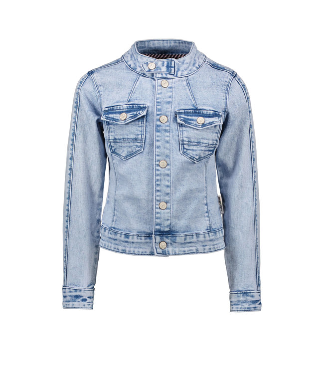 B.Nosy B-nosy Girls denim pilot jacket with elasticated backside soft pink Y108-5345 169