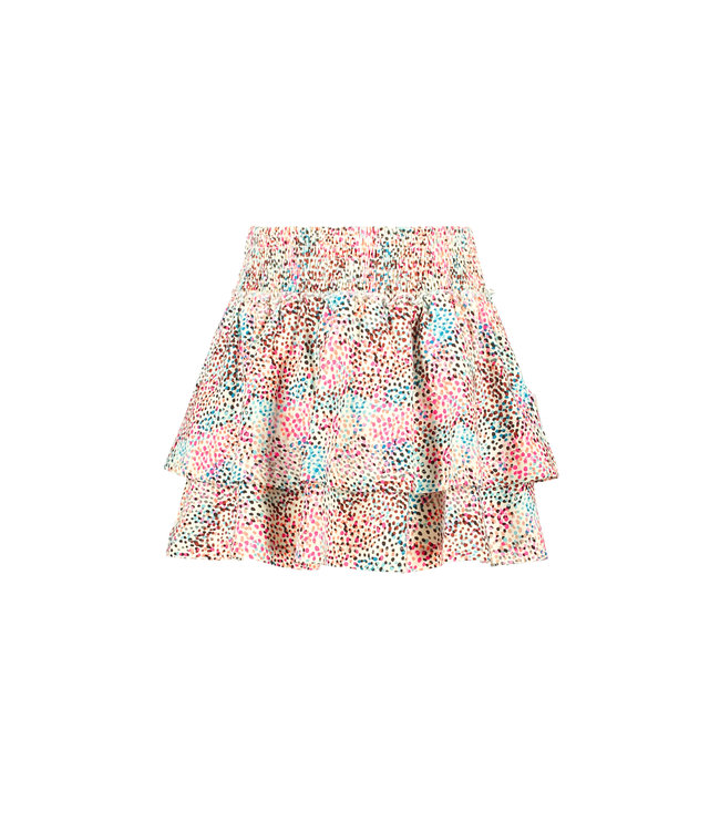 B.Nosy B-nosy Girls 2-layer skirt with multi spots ao you spots Y108-5720 048