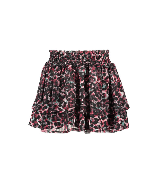 B.Nosy B-nosy Girls smock part skirt with 2 layers, black lining brushed AO Y108-5731 088