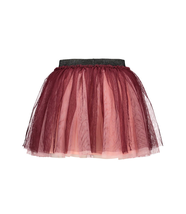 B.Nosy B-nosy Girls wide netting 2 layer skirt with lining maroon red Y108-5732 264
