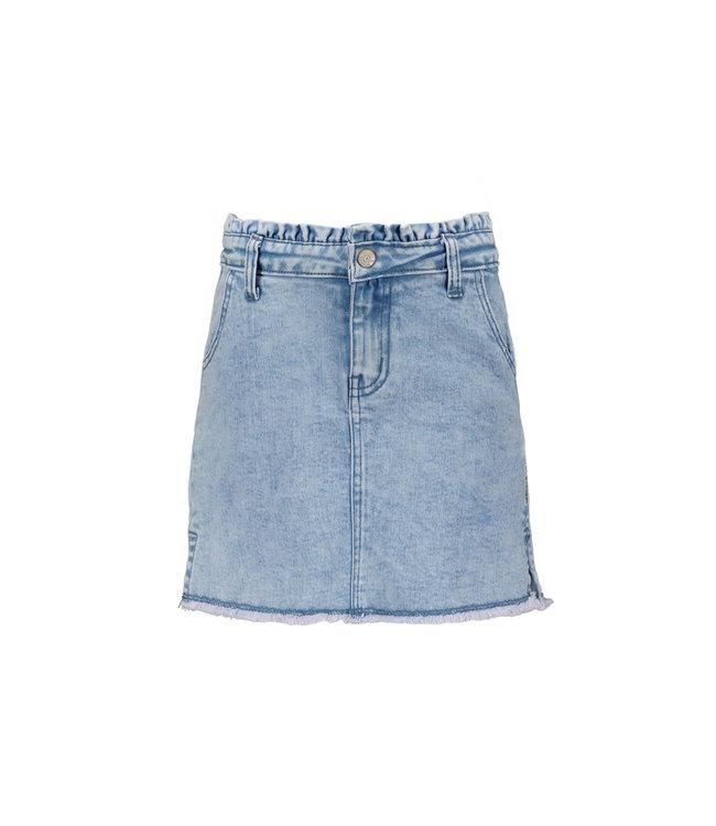 B.Nosy B-nosy Girls denim skirt with smocked wb soft pink Y108-5741 169