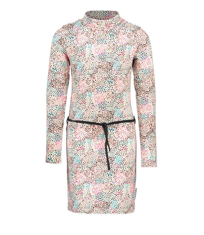 B.Nosy B-nosy Girls multi spots ao dress with contrast belt you spots Y108-5821 048