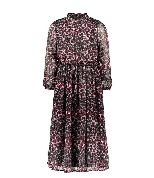 B.Nosy B-nosy Girls maxi dress with body, baby plisse skirt brushed AO Y108-5832 088