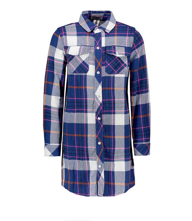 B.Nosy B-nosy Girls tough check dress with button closure tough check lake Y108-5845 195