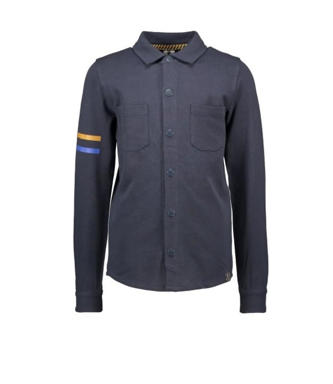 B.Nosy B-nosy Boys pique shirt with patched pockets and print artwork ink blue Y108-6110 109