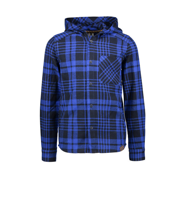 B.Nosy B-nosy Boys hooded check shirt with patched pocket empire check Y108-6111 117