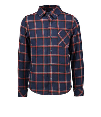B.Nosy B-nosy Boys big check woven shirt with patched pocket clever check Y108-6120 184