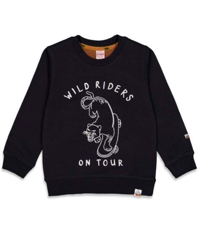 Sturdy Sturdy Sweater Wild Riders - On A Roll Zwart 71600450