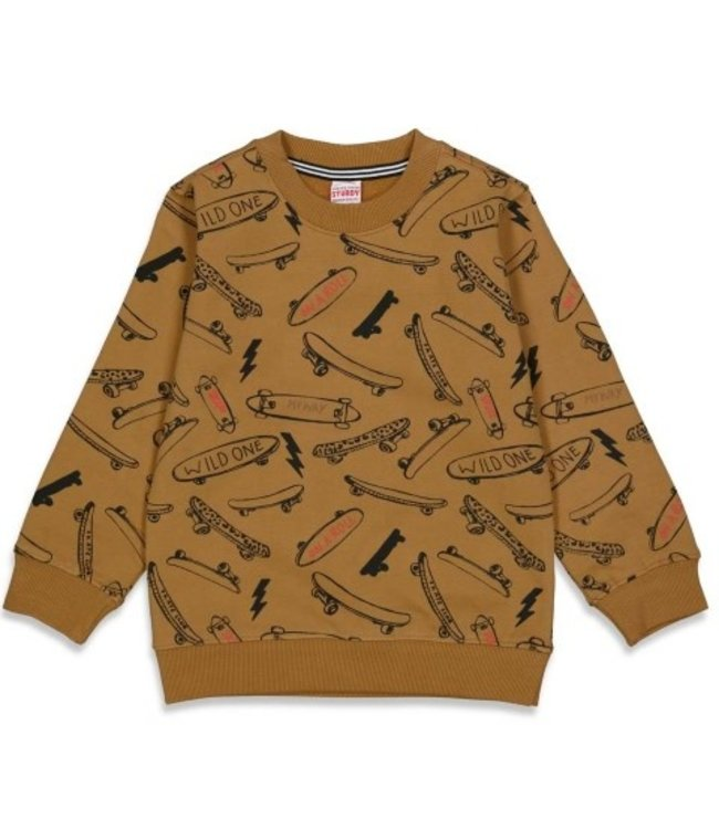 Sturdy Sturdy Sweater AOP - On A Roll Geel 71600447