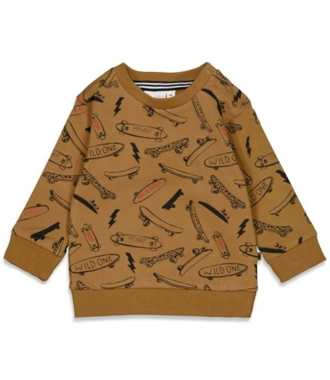 Feetje Feetje Sweater AOP - On A Roll Geel 51601832