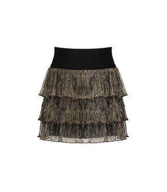 NoNo Nono Nilja 3 layered shiny plissee short skirt