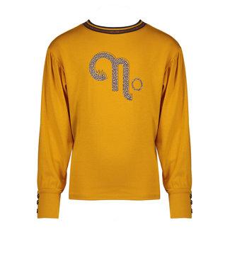 NoNo Nono Kisou l/sl tshirt with fancy puffy sleeve and No artwork saffron